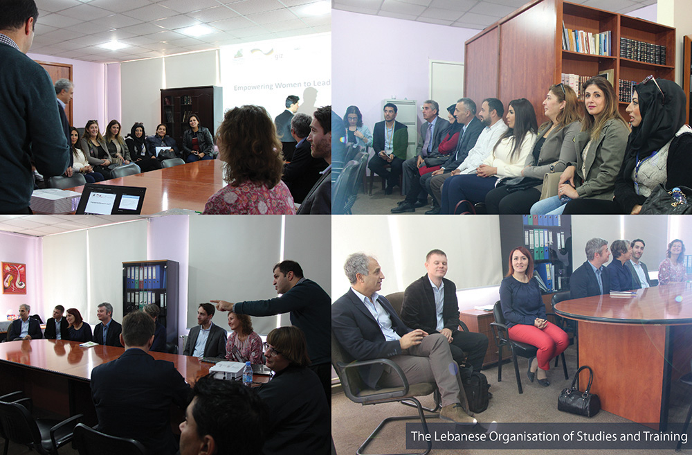 German Delegation Visits the Lebanese Organization for Studies and Training in Baalbeck